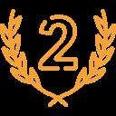 Zeichen für den 2. Platz